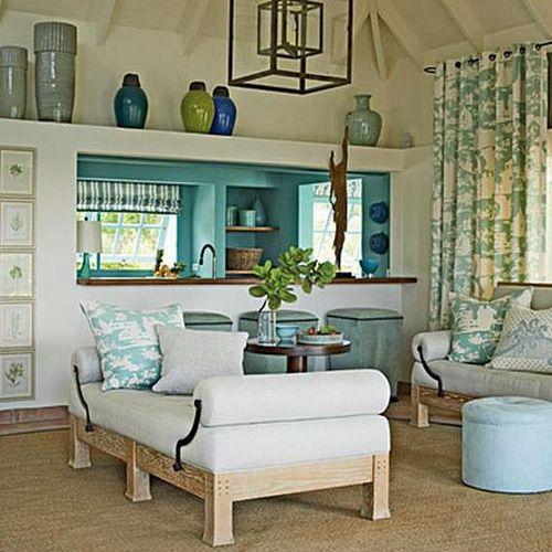 Aqua seafoam blue green hues cobalt i love these colors for Aqua blue living room ideas