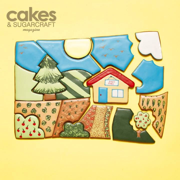 Dad's Shed cookie puzzle tutorial from the Summer 2015 issue of Cakes & Sugarcraft magazine