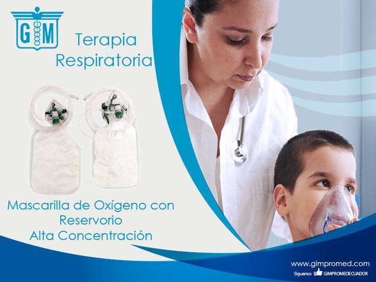 Gimpromed - Catálogo Terapia Respiratoria Producto: Mascarilla de Oxígeno con Reservorio Alta Concentración