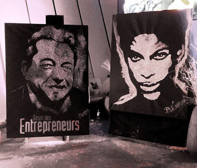 Boris Normand Glitter Painting: Salon des entrepreneurs Paris Palais des congrès /...