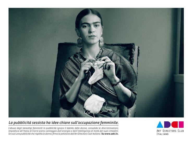 Campagna contro la pubblicità sessista in Italia, promossa dall'Art Directors Club Italiano   http://www.adci.it/