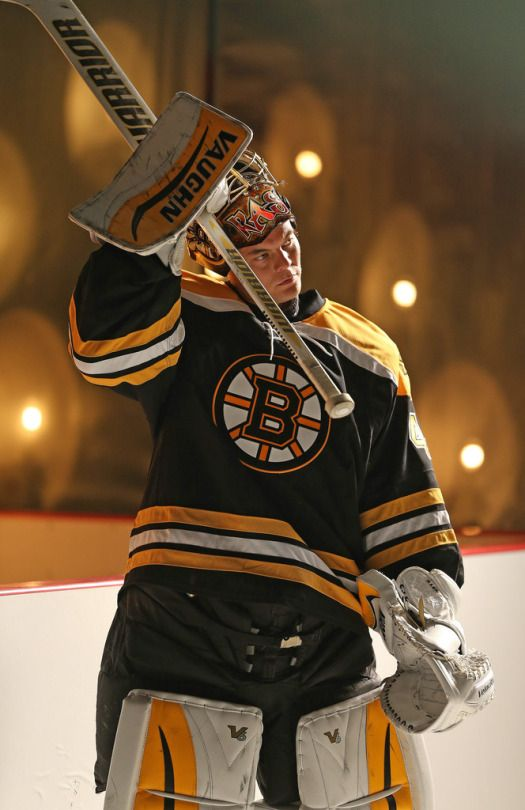 Awesome shot of Tukka Rask during NHL Media Day 2015