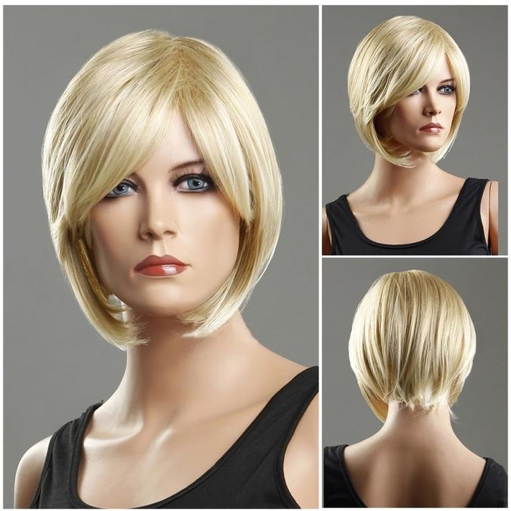Woman S Wig Blonde Short Straight Bob Haircut Wig Fashion