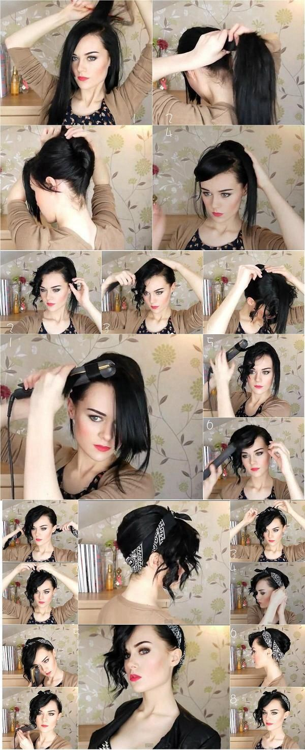 Hairstyle from long to short updo
