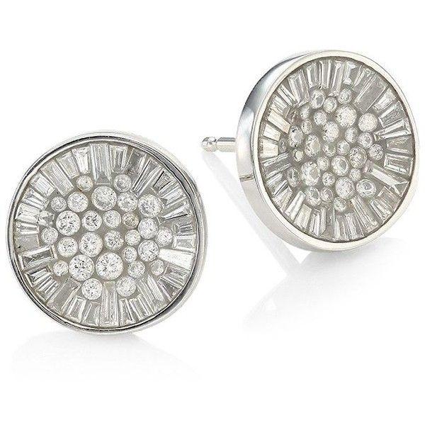 Plevé Ice Opus Diamond Stud Earrings (€2.105) ❤ liked on Polyvore featuring jewelry, earrings, diamond stud earrings, diamond earrings, druzy stud earrings, stud earrings and druzy jewelry