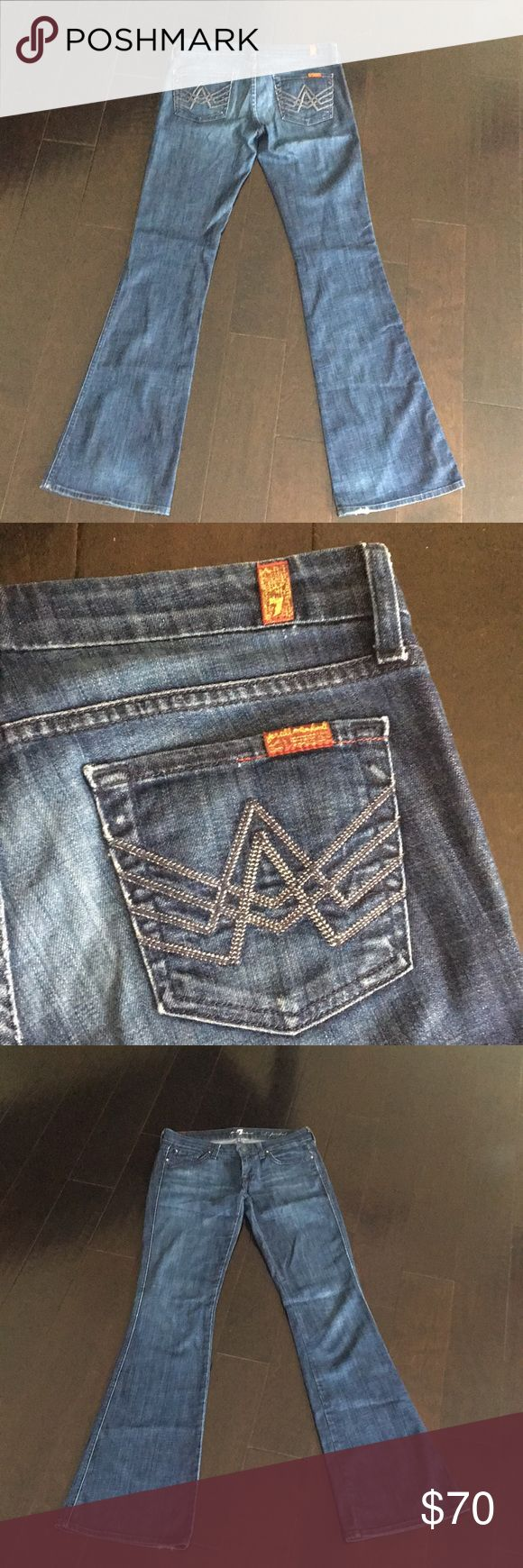 Seven Jeans Seven for all man kind A pocket, boot cut, low rise, excellent condition. Seven7 Jeans Boot Cut