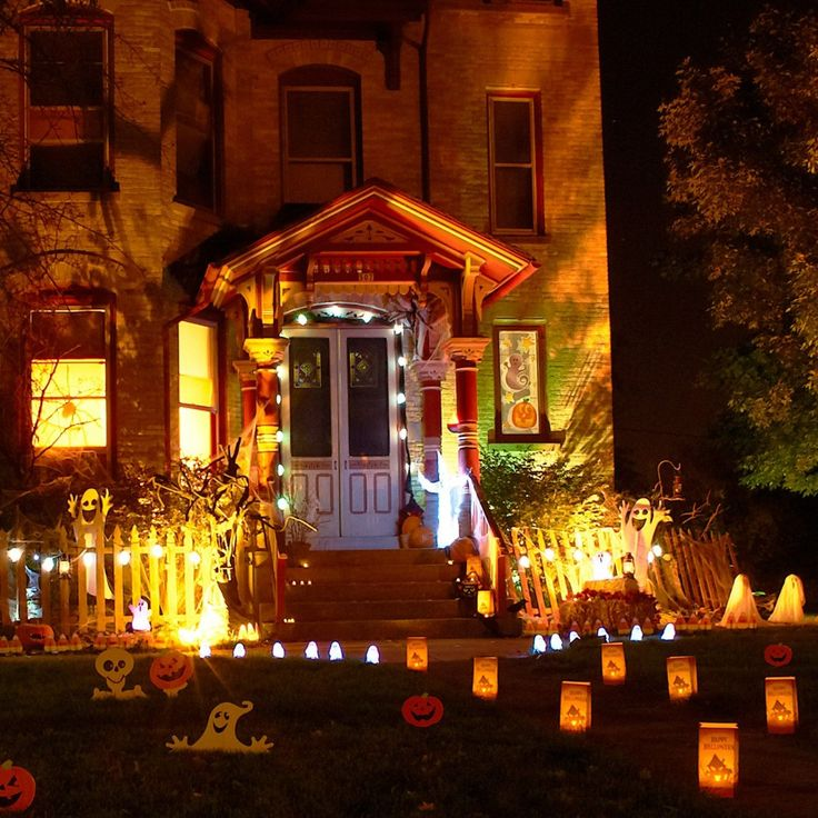 decoration brown light having outdoor scary halloween decor 6 slide windows as well as mirror - Halloween Light Ideas