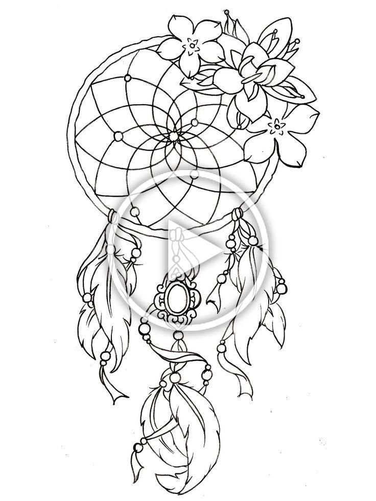 Free Coloring Page Coloring Dreamcatcher Designs Dream Catcher Tattoo Design Dream Catcher Coloring Pages Tattoo Coloring Book