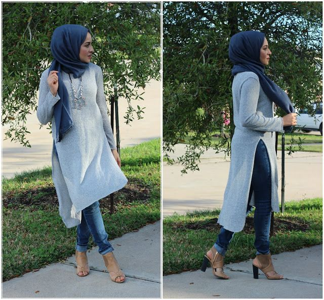 open side long tunic hijab style- Hijab looks by Sincerely Maryam http://www.justtrendygirls.com/hijab-looks-by-sincerely-maryam/
