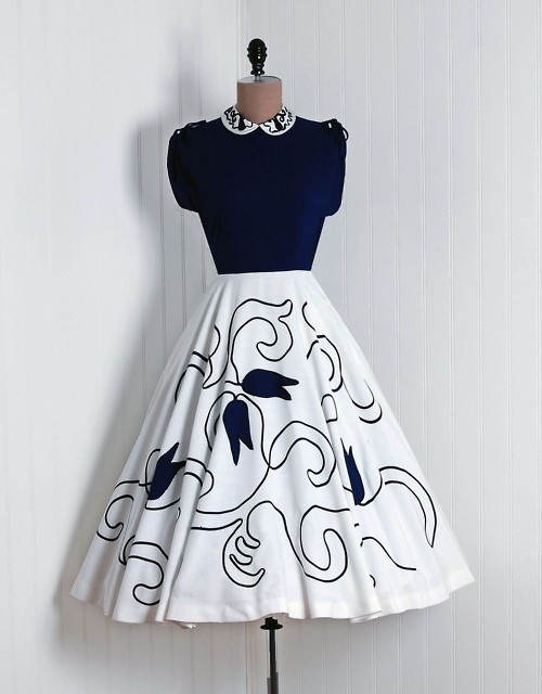 1950's dress <3 #vintagedress #blackandwhite