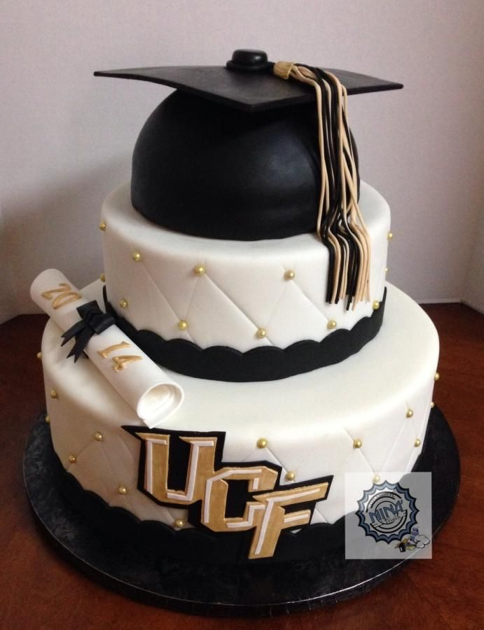 2+Tiered+College+Graduation+Cake+-+Cake+by+Annette+Colon