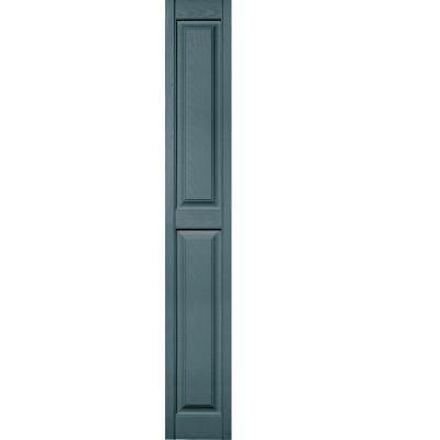 raised panel vinyl exterior shutters pair in 004 wedgewood blue - Shutters Home Depot