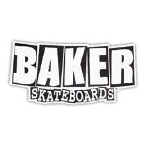Baker Skateboards Large Logo Sticker.  Click on picture to purchase.