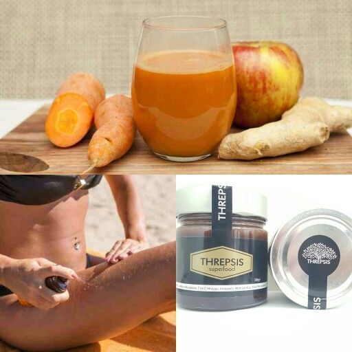 Tan boosting smoothie with threpsis superfood