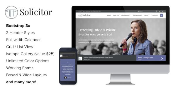 Solicitor - Law Business Consulting Responsive HTML5 Template - Business Corporate Consulting Template. Download here: https://themeforest.net/item/solicitor-law-business-responsive-html5-template/16566991?s_rank=22&ref=yinkira