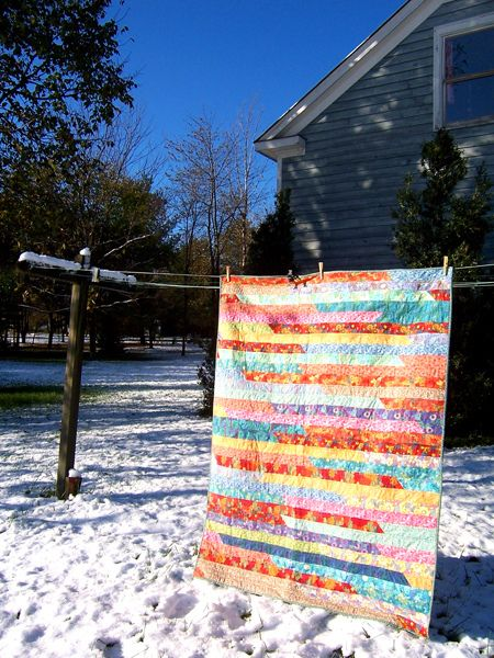 Jelly Roll Quilt by DeeRoo G