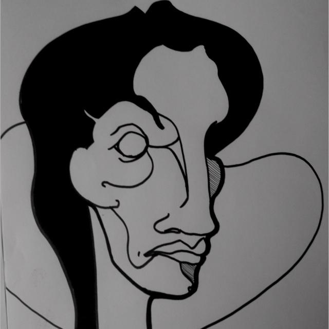 #face #draw #dessin