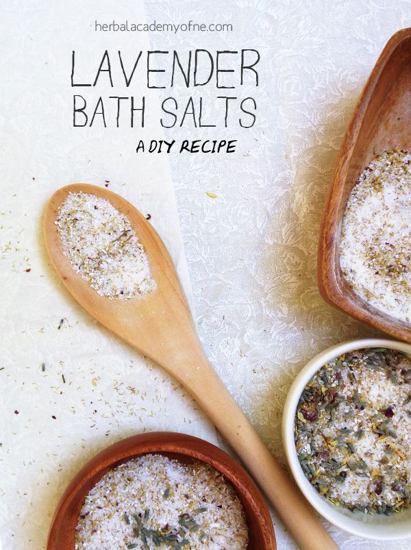 Lavender Bath Salts - A DIY recipe