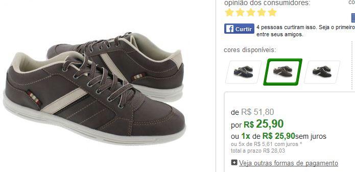 Sapatênis Action Shoes Sintético - 3 Cores Disponíveis << R$ 2590 >>