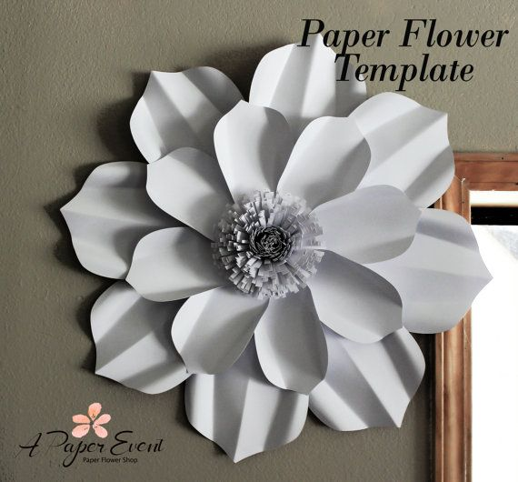 Wedding Paper Flower Templates: Paper Flower Template PDF Sale 35% Off (Price Is Marked