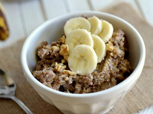 """banana bread quinoa - Really good.  Needed a little less Cinnamon (I did not use creamer).  Cooked low for 6 hours then left on """"warm"""""""
