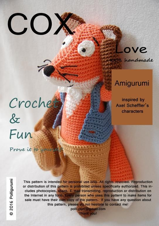 Looking for your next project? You're going to love COX the fox Amigurumi…