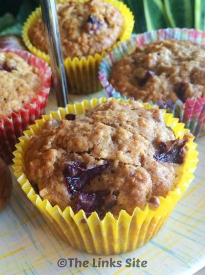 Plum Oat Muffins - thelinkssite.com