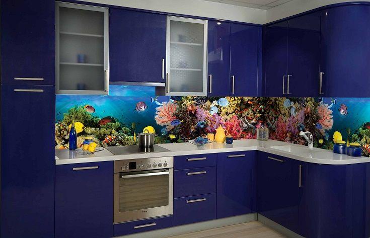 Кухонный фартук Аквариум. Цена 430 грн. Декор для ванной и кухни, декор и текстиль для кухни, декоративные наклейки, наклейки printable, наклейки на кухню, виниловые наклейки для кухни, декоративные наклейки на мебель.