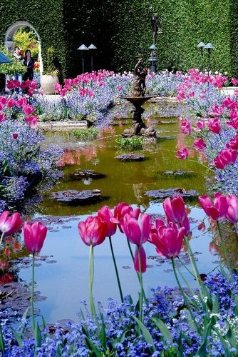 Italian Garden, Butchart Gardens by Roy Okano...One of my favorite gardens, pictures don't do it justice! Go see Butchart Gardens up in Victoria British Columbia, every season is breathtaking!