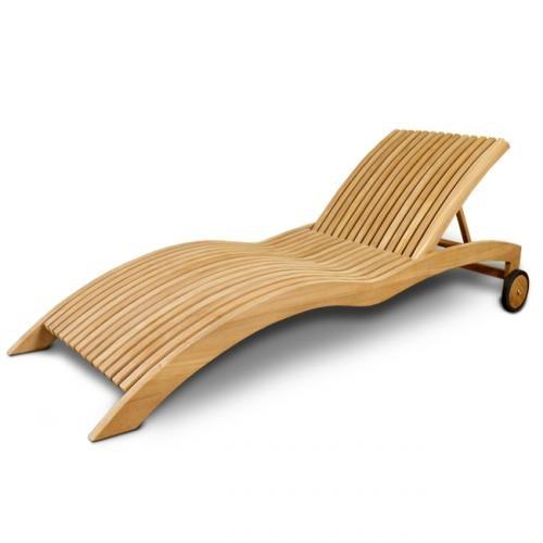 bain de soleil en teck wave exterieur bain de soleil. Black Bedroom Furniture Sets. Home Design Ideas