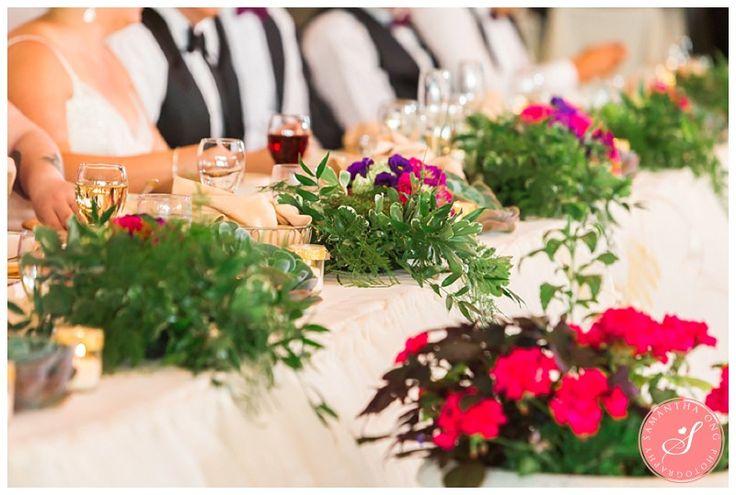 Head Table | Legends on the Niagara Summer Wedding Photos: Lindsay +  Dave | © 2015 Samantha Ong Photography samanthaongphoto.com | #samanthaongphoto #niagaraweddings #niagara #weddings #weddingphotography #legendsontheniagara #niagaraparkweddings
