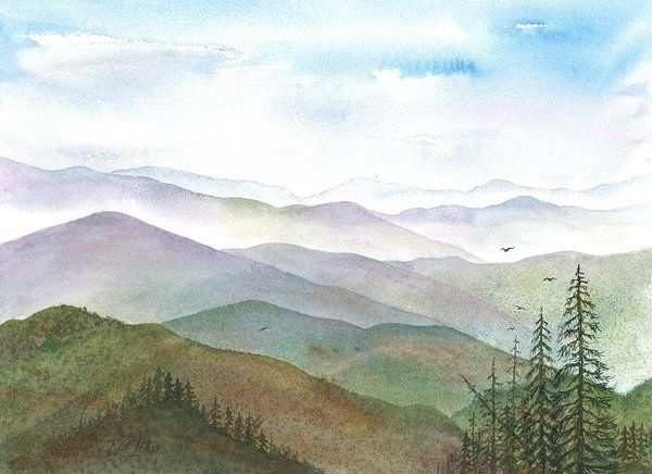 Smoky Mountain Morning Art Print By Rosie Phillips Mountain
