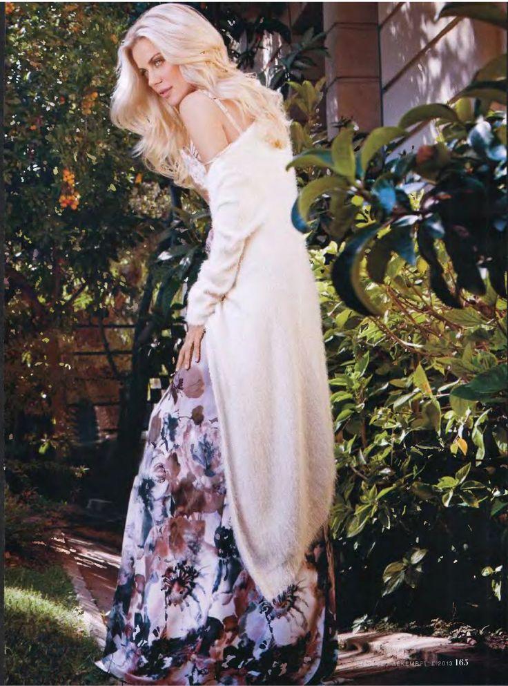 #Skirt & #Cardigan from #Zeta_Makripoulia_for_Raxevsky, IN STYLE Magazine, December issue