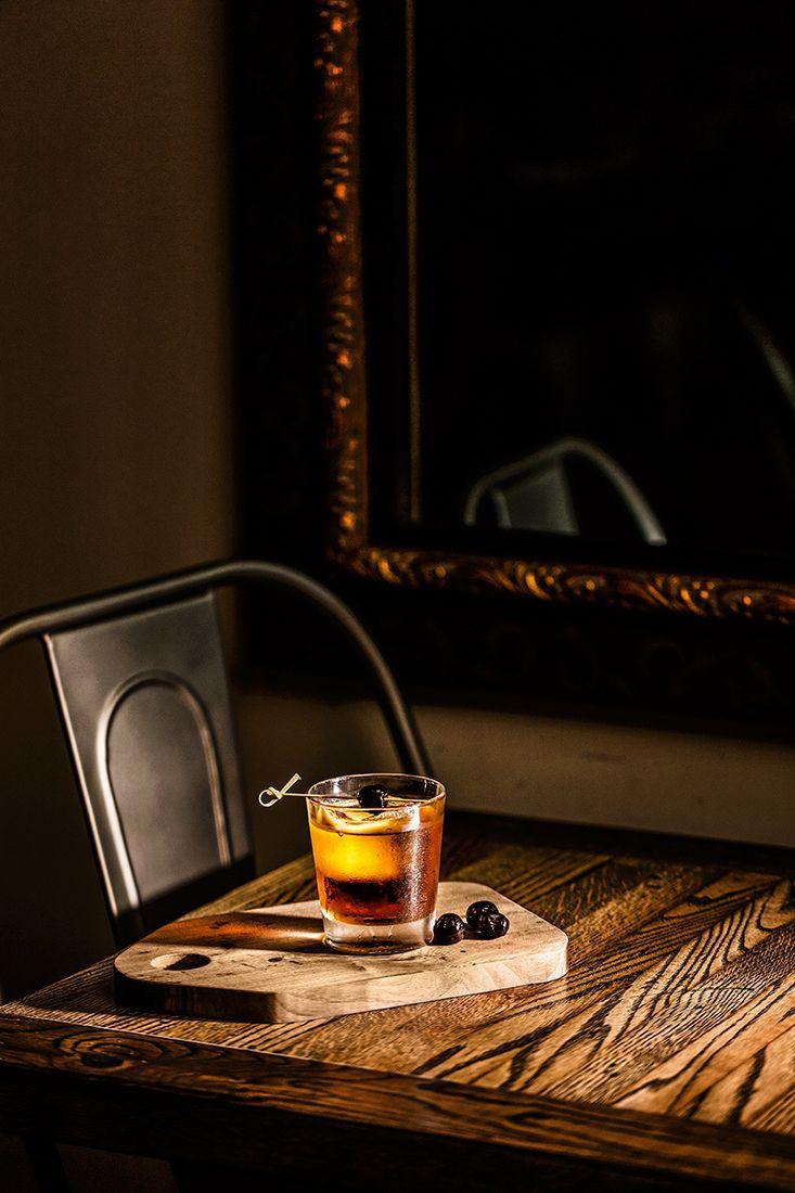 Jupiter's Redemption | Redemption rye stirred with Amaro (a bitter Italian liqueur), and Luxardo Maraschino cherry liqueur | Nitrogen Bar and Grill | Jupiter, Florida