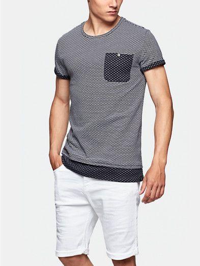 Gestreept t-shirt donkerblauw - The Sting