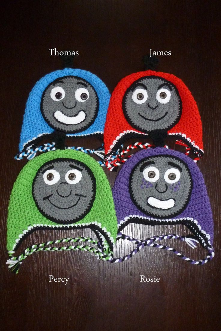 Thomas & Friends Inspired Crocheted Hats  $20 each made to order