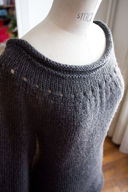 Beautiful Ballet Neckline Marilyn Pullover Sweater - so pretty! #sweaterknitingpattern