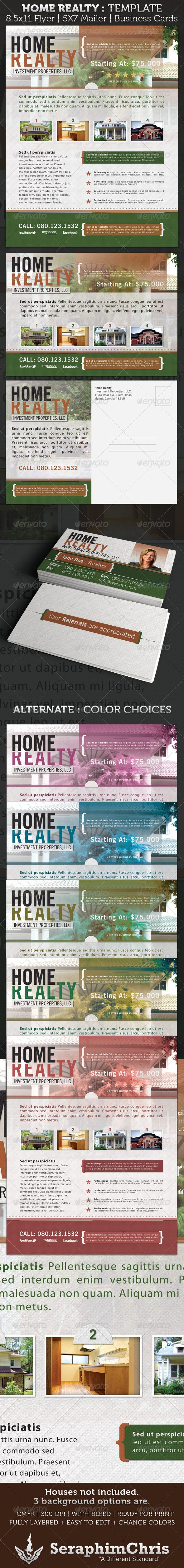 Home Realty Flyer, Mailer, & Business Card