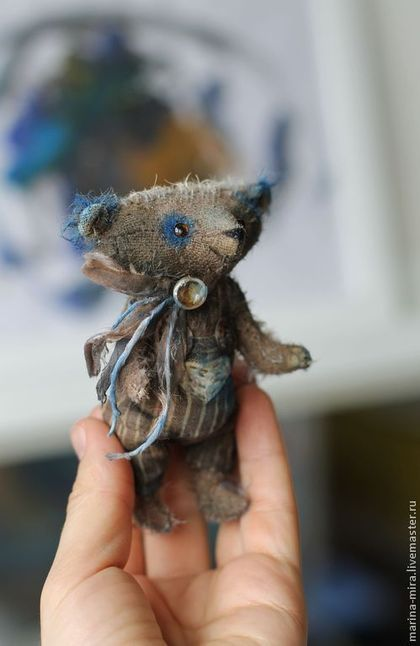 Мишки Тедди ручной работы. Ярмарка Мастеров - ручная работа Мишка Коричневый.  мишка тедди, мини.. Handmade.
