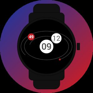 #gravity #planets #orbits #3d #analog #digital #watchface #smartwatch #wearable #androidwear #lggwatchr #moto360 #design #apparel