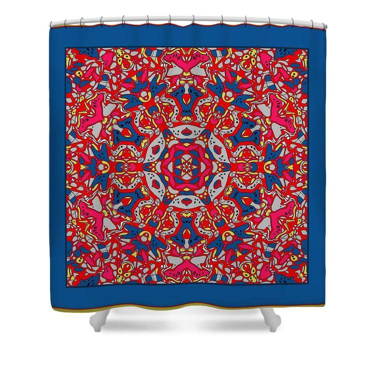 Pop Art Kaleidoscope No 1 Shower Curtain | Kaleidoscopes, Pop Art ...