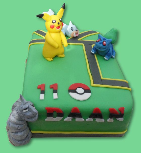 Pokemon go cake - pokemon go taart