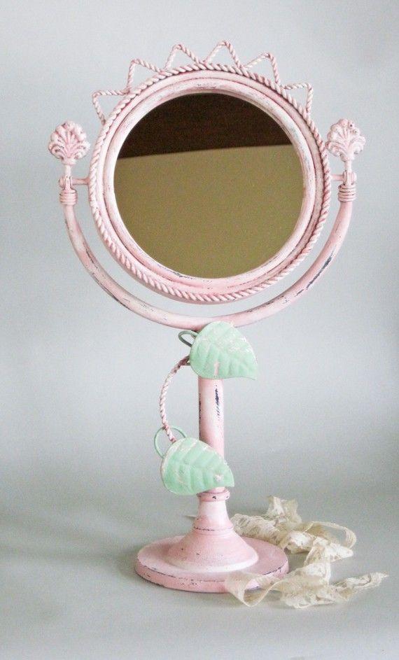 Vanity Mirror Paris Pink Iron Shabby Chic Mirror
