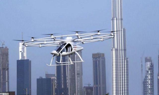 En Dubai se quiere implantar un nuevo sistema de Taxi dron autónomo