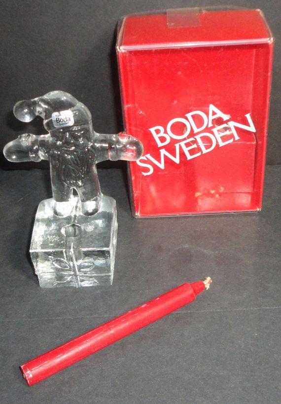 Kosta Boda Art Glass Santa Claus Candle Holder. by Cosasraras