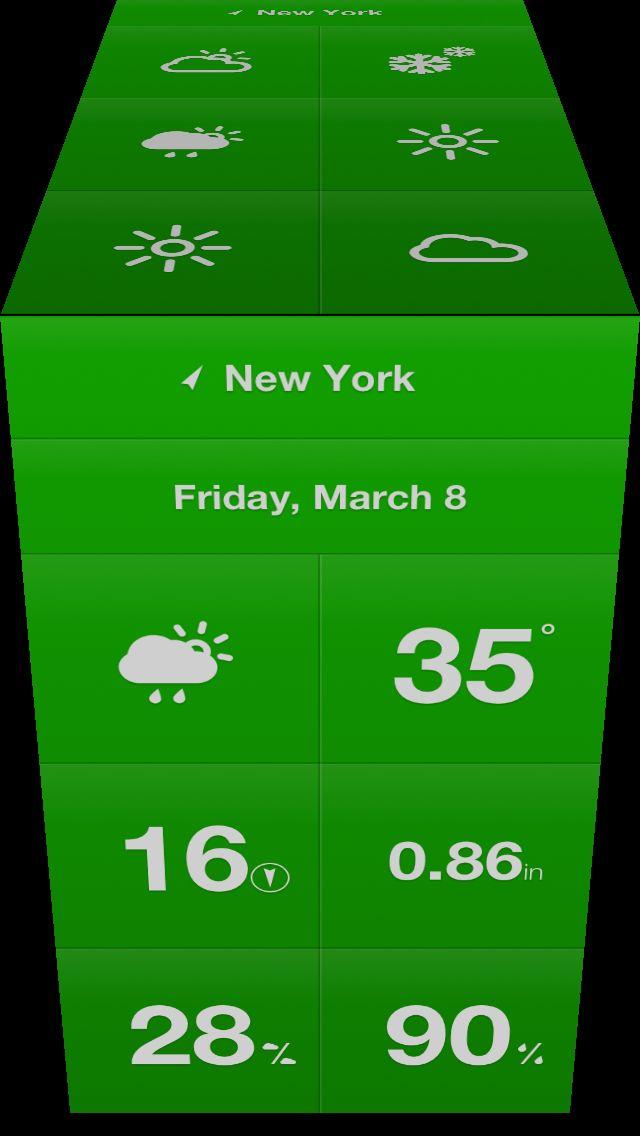 Categoria: 1 / Tags: ui, animation, effect, ios / Descrição: Referência de transição presente em um aplicativo de clima para iPhone.