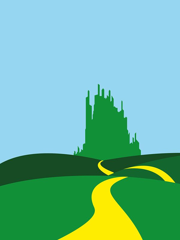 Wizard Of Oz Minimalist Movie Posters On Behance