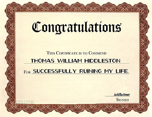 Congratulations! This Certificate To Commend Thomas William
