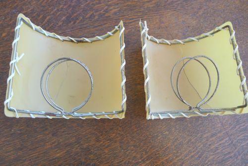 50s Fiberglass Clip On Half Lamp Shade For Sconce Repair