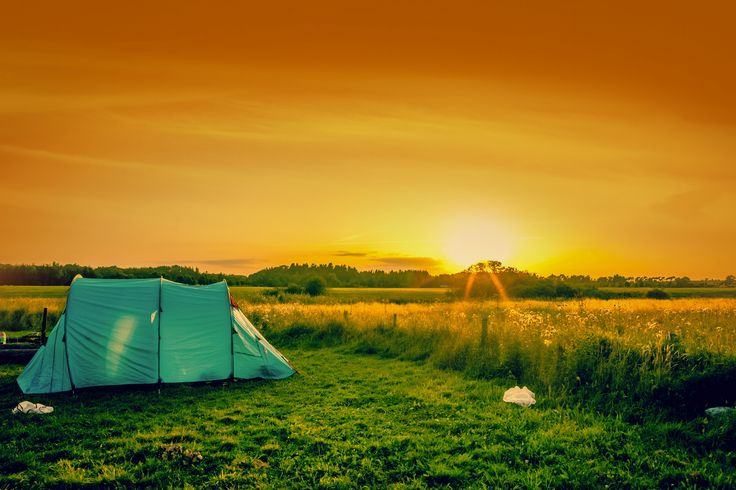 Photograph Blue tent on a field by Kasper Nymann on 500px